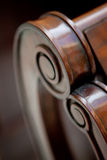 Hand-made wooden armchair detail Royalty Free Stock Image