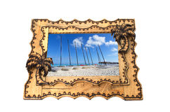 Hand made wooden picture frame Royalty Free Stock Photos