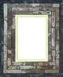 Hand made wooden picture frame Royalty Free Stock Photography