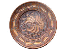 Hand made wooden plate Stock Photos