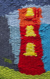 Hand made woolen beautiful colorful carpet Royalty Free Stock Image