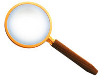 Hand magnifier Stock Photo