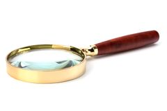 Hand magnifier Stock Images