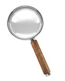 Hand magnifier 3d isolated icon Stock Image