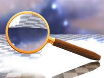 Hand magnifier lens Royalty Free Stock Images