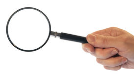 Hand with Magnifying Glass Stock Images