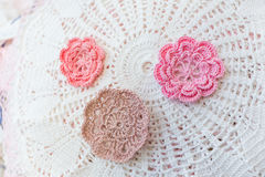 Hand maid crochet Royalty Free Stock Images