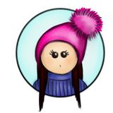Doll in circle royalty free illustration