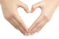 Hand make a heart shape Royalty Free Stock Image
