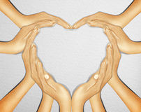 Hand make a heart shape Stock Photo