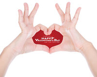 Hand make a heart shape. Stock Photo