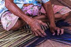 Hand make. The hand make interlace  local culture Royalty Free Stock Photo