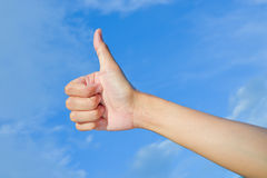 Hand make thumbs up Stock Images