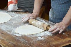 Hand making pasta Royalty Free Stock Photo