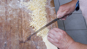 Hand making pasta Royalty Free Stock Photos