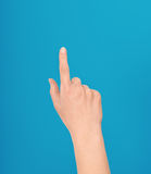 Hand making a touch or pointing gesture Royalty Free Stock Photos