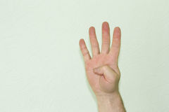 The hand of the male symbol. Is four digits. Photo for your design stock photo