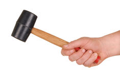 Hand with Mallet Stock Photo