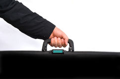 Hand of a man carry travel suitcase Royalty Free Stock Images