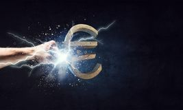 Euro currency fall Royalty Free Stock Photo