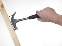 Hand of man with hammer Stock Image