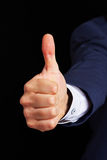 Hand of man holding thumb up Royalty Free Stock Image
