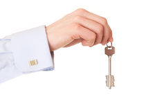 Hand of a man with the keys. Stock Images