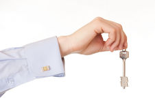 Hand of a man with the keys. Stock Image