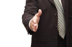 Hand of man ready for handshake Stock Image
