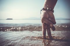 Hand - a man of the sea Stock Photo