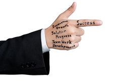 Hand man tactics for success Royalty Free Stock Photo