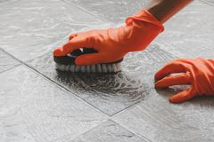 Floor cleaning industry stock photography