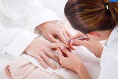 Hand manicure Royalty Free Stock Photography