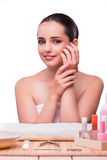 The hand manicure treatment in health concept Stock Photography