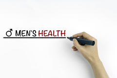 Hand with marker writing the text - Men's Health Royalty Free Stock Image