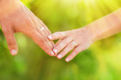Hand of married people royalty free stock images