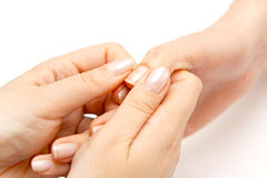 Hand massage Stock Image