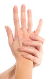 Hand Massage Royalty Free Stock Images