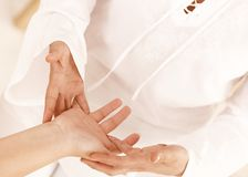 Hand massage Royalty Free Stock Photo