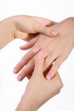 Hand Massage Stock Images