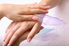 Hand Massage Stock Photos