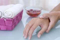 Hand massage Royalty Free Stock Photography