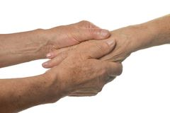Hand massage closeup Stock Photography