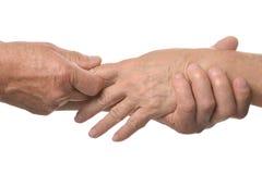 Hand massage closeup Stock Images