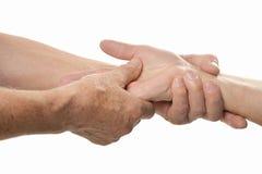 Hand massage closeup Royalty Free Stock Photography