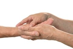 Hand massage closeup Royalty Free Stock Photo