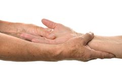 Hand massage closeup Royalty Free Stock Photography