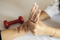 Hand massage Royalty Free Stock Photography
