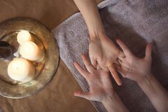 Hand massage at spa Royalty Free Stock Photography