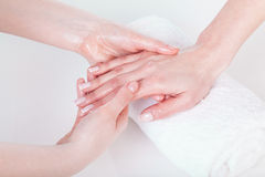 Hand massage Stock Image